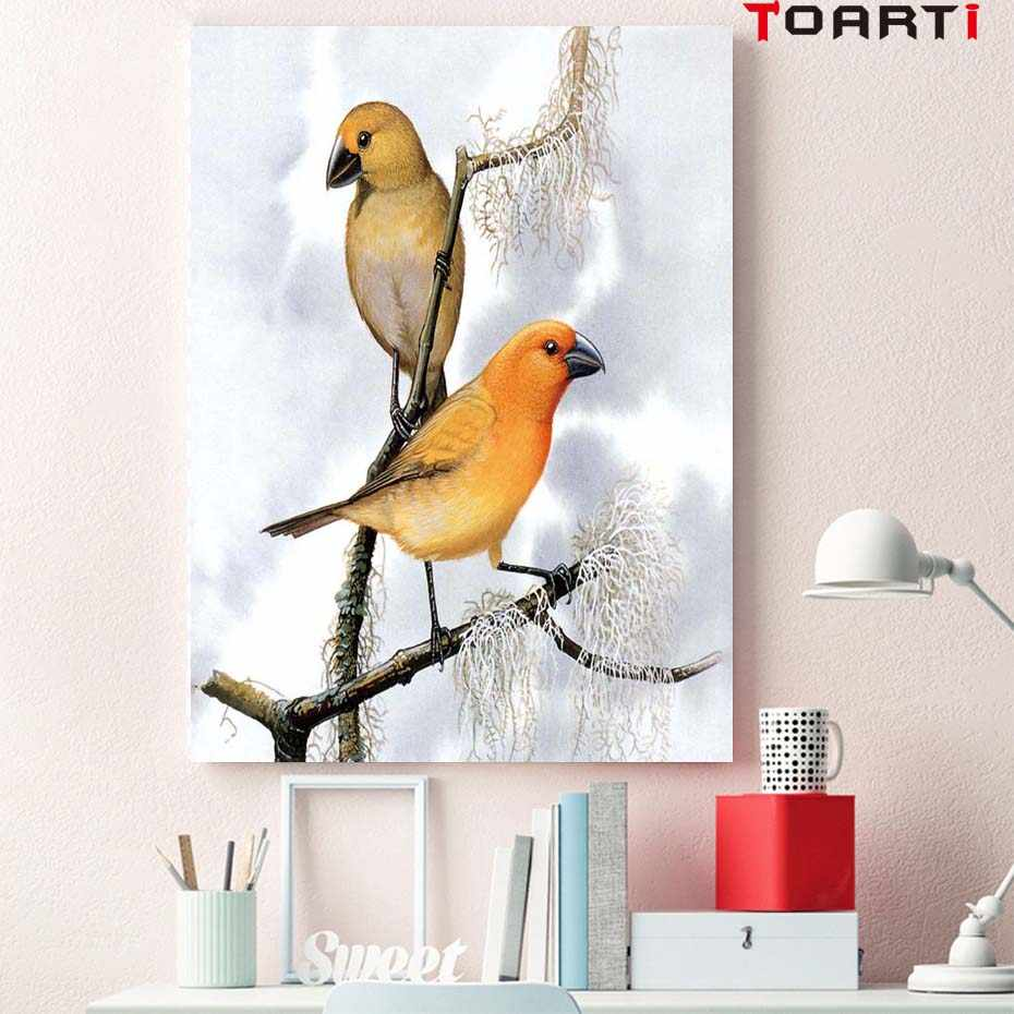 Canvas Painting Nice Yellow Bird Natural Nordic poster Abstract Wall Pictures Living Room Art Decoration Pictures No Frame