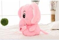 Petit éléphant en peluche jouet mignon rose éléphant poupée long nez éléphant poupée cadeau poupée environ 30 cm