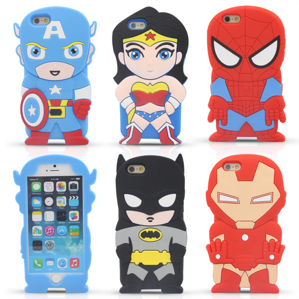 2016 Hot! Case Soft 3D Silicone Cartoon Characters shape mobile phone for iphone5/5S Case Back Cover Cartoon Case