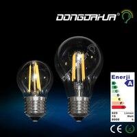 Żarówka led e27 żarnik światła szkła a60 żarówki g45 220 v do 240 v 4 w 6 w lampy retro oszczędności energii i ochrony środowiska