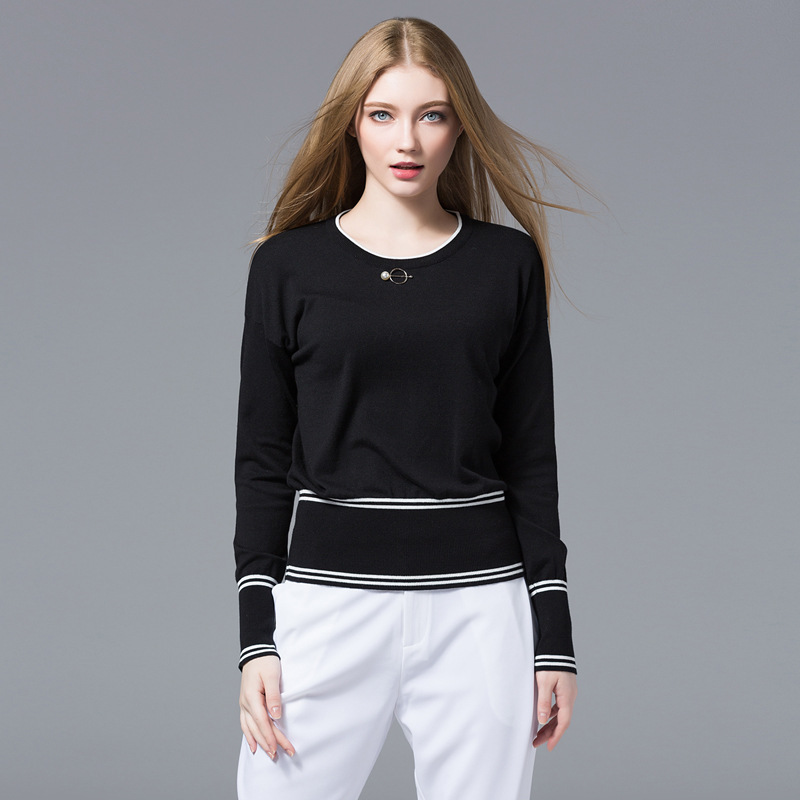Black Loose Wool Sweater Women Knitted Sweaters Woman Oversized Long Fashion 2019 Spring Autumn Plus Large Size Sexy