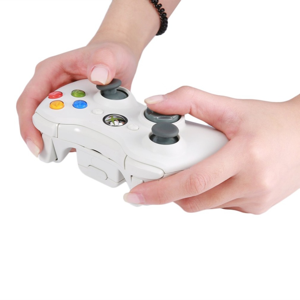 Black/White 2.4G Wireless Game Controller Vibration Gamepad Joystick Gaming PC Gamer Game Pad For PC Win 7/8/10