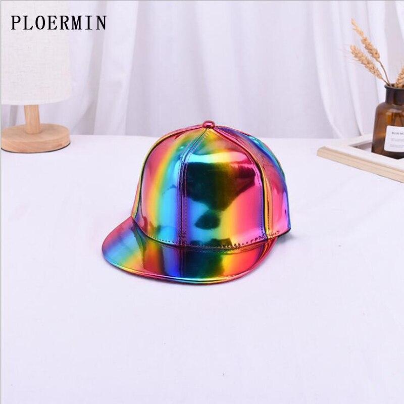 PLOERMIN Baseball Hats Snapbacks Hip-Hop-Caps Street-Dancer Shining Cool Flat-Brim Women