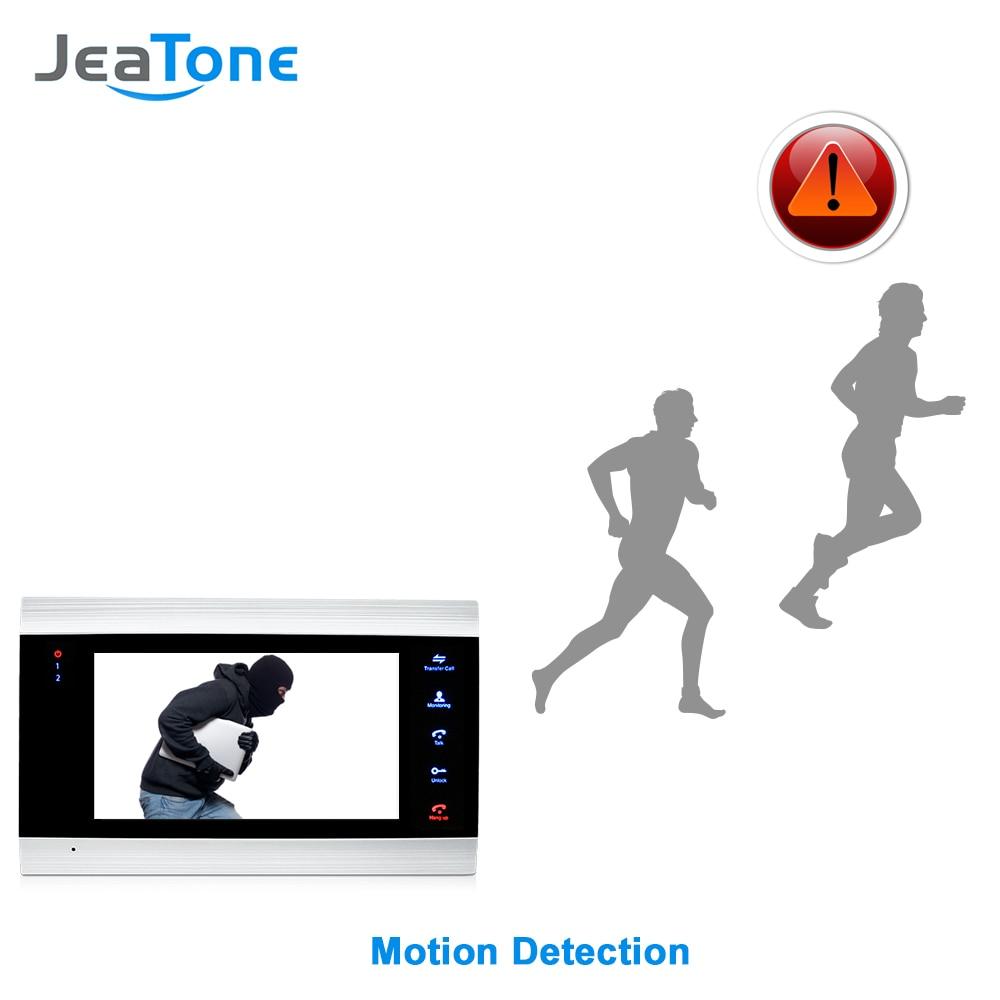 Купить с кэшбэком 720P/AHD Intercom 4 Wired 7'' Video Door Phone DoorBell Door Speaker Security System Voice message/Motion Detection/MP4 Player