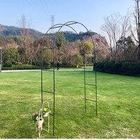 Wrought iron wedding arch frame garden pergola metal support frame rattan winding decoration DIY detachable
