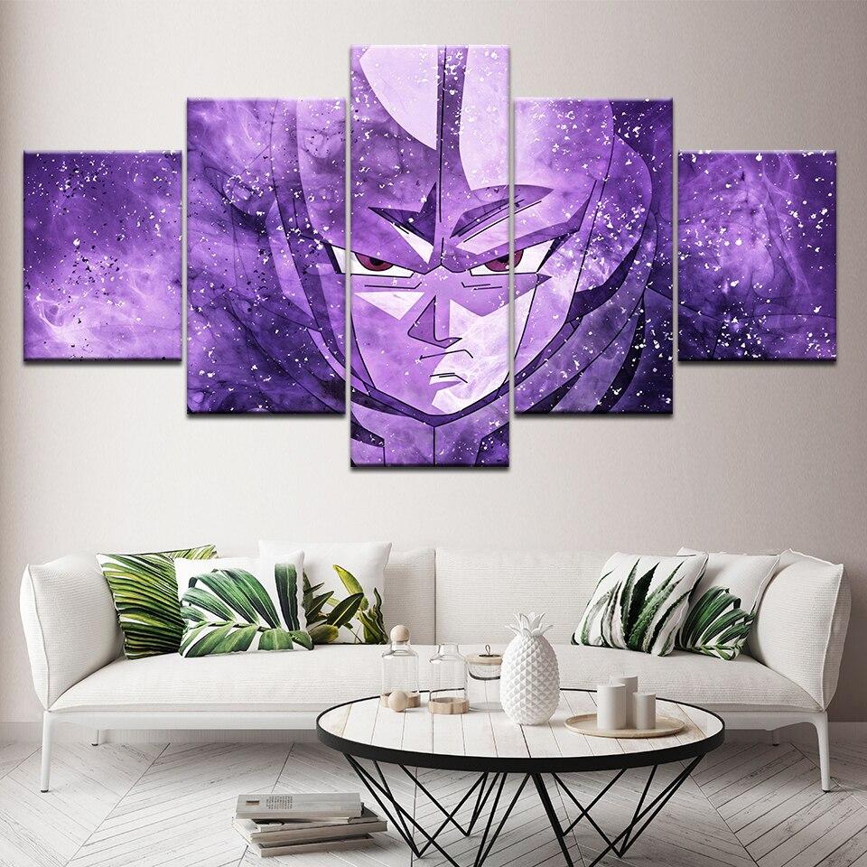 Canvas Painting Dragon Ball Super Go Ku Vs Hit 5 Pieces Wall Art