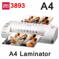 [ReadStar]Deli 3893 hot pouch laminator 220VAC A4/A5 size photo documents laminator temprature gear with ungency stop
