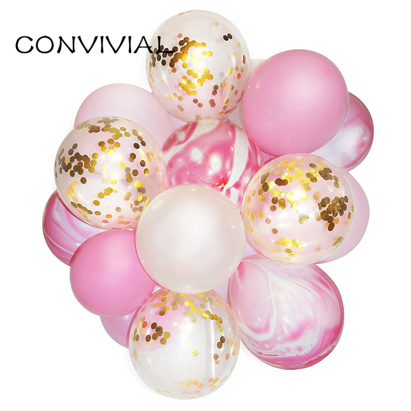20pcs/lot 12inch Confetti Balloon Bouquet Baby Shower Birthday Wedding Party Decoration Photobooths Backdrop Helium Balloons 157