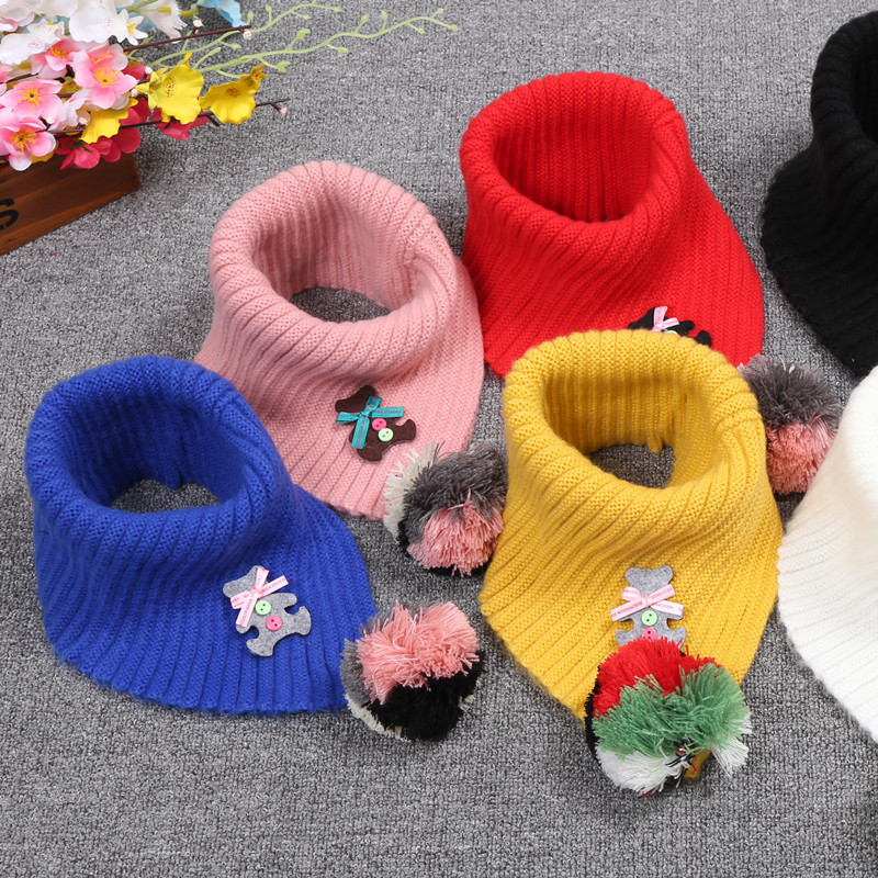 Hearty New Style Unisex Winter For Women Men Kids Baby Knitted Fashion Scarf Thickened Wool Collar Scarves Boys Girls Cotton Neck Scarf Cheap Sales Girl's Scarves Girl's Accessories