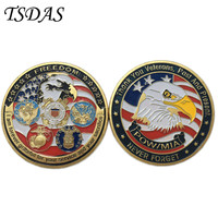 Top Grade Commemorative Coins Double Side Gold Plated With 3d Effect, Military Veteran Coin to Remeber Old Armys