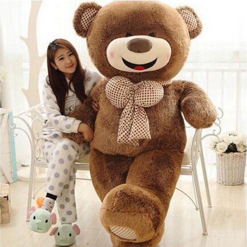 Oversize 180cm Huge Happy Teddy Bear Pillow Stuffed Giant Teddy Bear Plush Toy Gift Plush Ted Man's Movie For Girlfriend Gift 1pcs 16 40cm movie teddy bear ted plush toys in apron soft stuffed animals ted bear plush dolls birthday gift