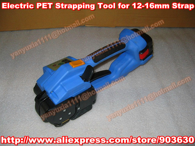 By DHL/Fedex ! DD160 Battery-powered PET/Plastic Strapping Tools,Handheld Electric PP/PET Strapping Band Machine for 12-16MM