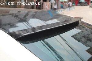 Image 1 - באיכות גבוהה נדל סיבי פחמן רכב אחורי גג ספוילר כנף עבור טויוטה Mark x/רייז 2010 2019