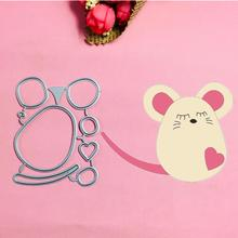 Mickey Minnie love Mous Metal Cut Dies Christmas Stencils For DIY Scrapbook Paper Card Decorative Craft Embossing Die Cuts