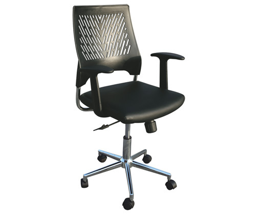 chair revolving steel base with wheels floor back support philippines office manager staff lift armrest swivel gleaming chrome