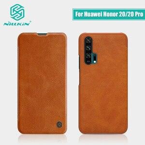 Image 1 - Dla Huawei Honor 20 skrzynki pokrywa 6.26 NILLKIN Vintage Qin odwróć pokrywa portfel PU skóra + PC dla Huawei Honor 20 Pro przypadku