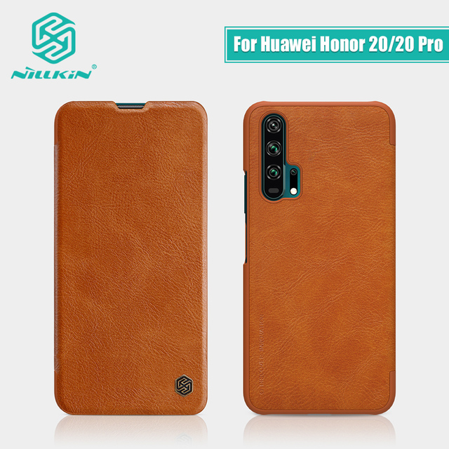 Dla Huawei Honor 20 skrzynki pokrywa 6.26 NILLKIN Vintage Qin odwróć pokrywa portfel PU skóra + PC dla Huawei Honor 20 Pro przypadku