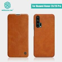 สำหรับ Huawei Honor 20 ฝาครอบ 6.26 NILLKIN Vintage Qin Flip กระเป๋าสตางค์หนัง PU + PC สำหรับ Huawei honor 20 กรณี Pro