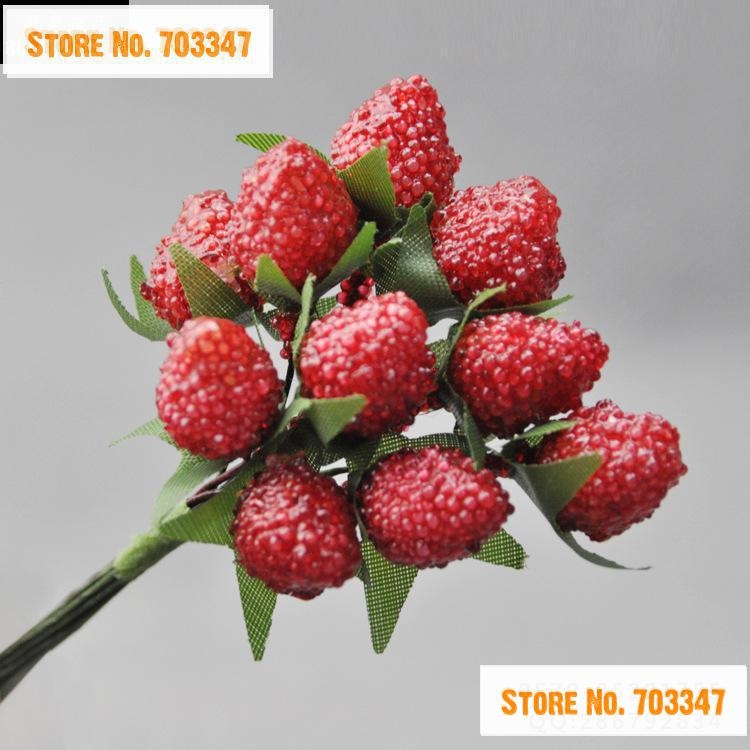 ̿̿̿(•̪ )¡ Venta caliente!! 1.5 cm Artificial Mini Plantas de Fresa ...