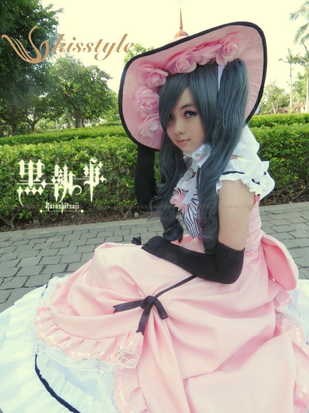 Kisstyle Fashion Black Butler Kuroshitsuji Ciel Cosplay Costume Dress Lolita Custom Made, Any Size