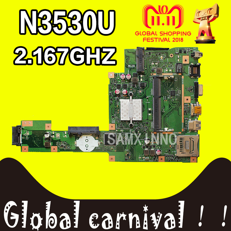 X553MA Motherboard REV2.0 N3530 RAM For ASUS A553M A553MA D553M F553M laptop Motherboard X553MA Mainboard test 100% OK