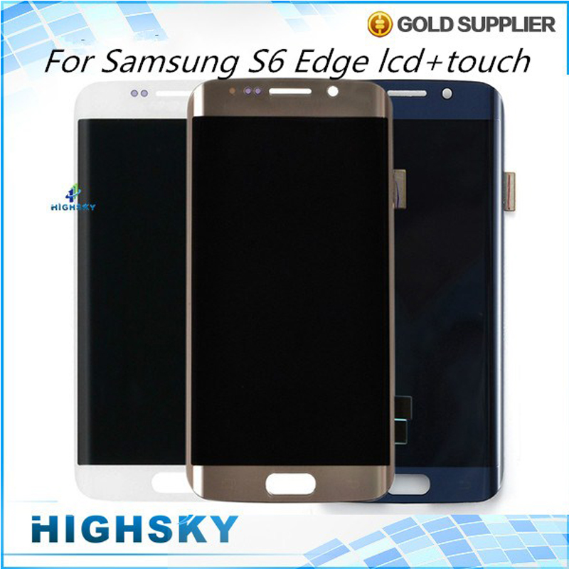 5 Pieces/lot Free DHL EMS Shipping Tested For Samsung Galaxy S6 Edge LCD Display SM-G925 G9250 Screen With Touch Digitizer