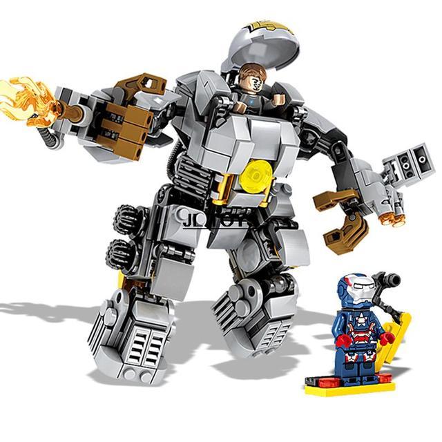 Vingadores Marvel Super Hero IronMan tijolo modelo MK1 mech assemblage Patriota de Ferro minifigure building block compatível com lego