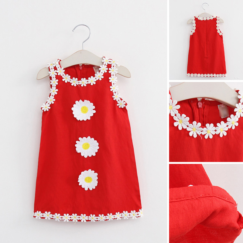 Kids Girl Flower Dress Princess Girls Dresses For Party Children Tank Style Costumes Toddler Girl Sleeveless Sundress Clothing