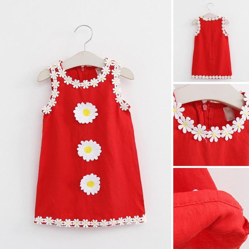 цена на Kids Girl Flower Dress Princess Girls Dresses For Party Children Tank Style Costumes Toddler Girl Sleeveless Sundress Clothing