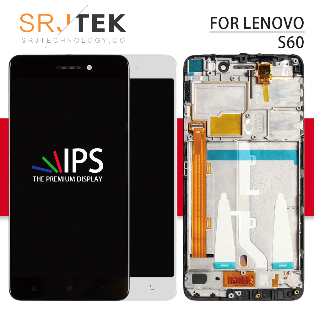 Srjtek screen for Lenovo S60 S60W LCD Display with Touch Digitizer Sensor Outer Glass Replacement Parts 5.0inch With FrameSrjtek screen for Lenovo S60 S60W LCD Display with Touch Digitizer Sensor Outer Glass Replacement Parts 5.0inch With Frame