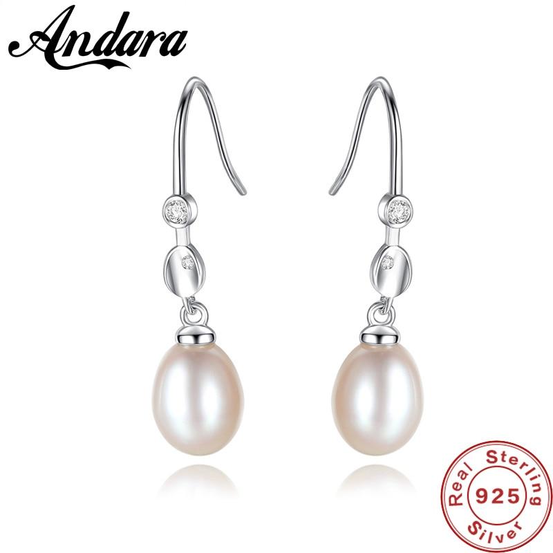 Pearl Earrings 925 sterling Silver WhitePinkPurple Pearl Dangle Earrings,Wedding Party Jewelry