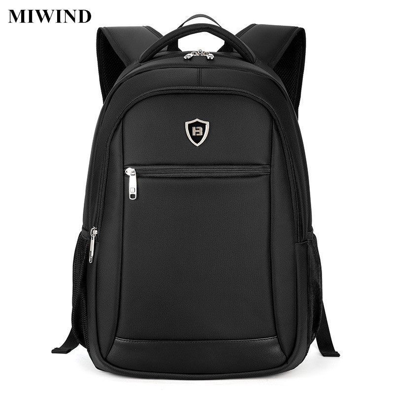 ФОТО MIWIND Mens Business Backpack Waterproof Anti-theft Casual 15.6inch Laptop Backpack Computer Bag Fashion School Bags Teenagers