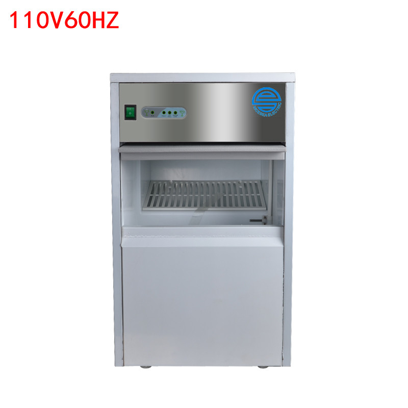 110V 220V Commercial Ice Maker 25Kg/24H Stainless Steel Automatic Ice Cube Maker Ice Machine 7Kg Storage With US Plug stainless steel electric ice shavers crusher chopper ice slush maker icecream snow cone ice block breaking machine eu us plug