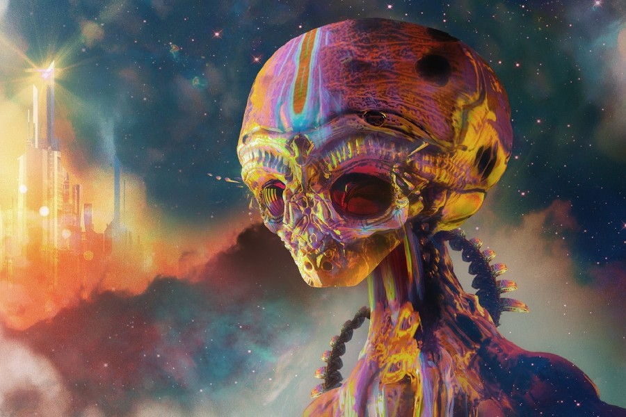 art aliens psychedelic - photo #20