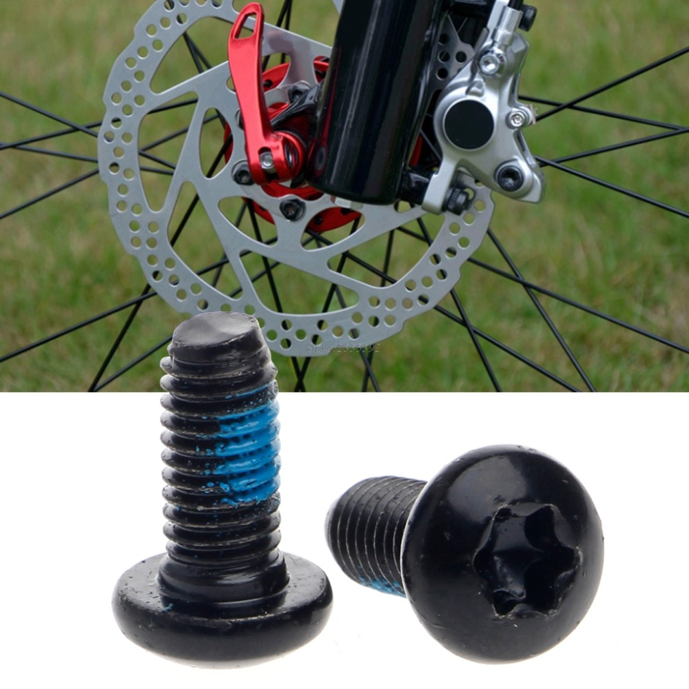 Rotor Screw Bolts Steel Alloy Bike MTB Bicycle T25 Torx M5x10mm Brake Hot