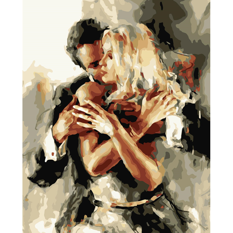 Painting Wedding-Decoration Dance-Figure Art-Picture Canvas 40x50 By Numbers Women Love title=