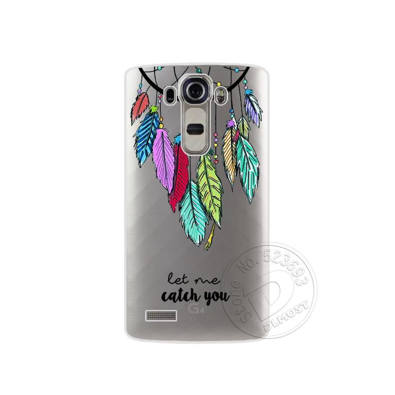 """Tpu pokrowce na lg g4 h815 h818 5.5 """"przezroczysty drukowanie rysunek silikonowe etui na telefony pokrywa dla lg g4 moda phone case 4"""