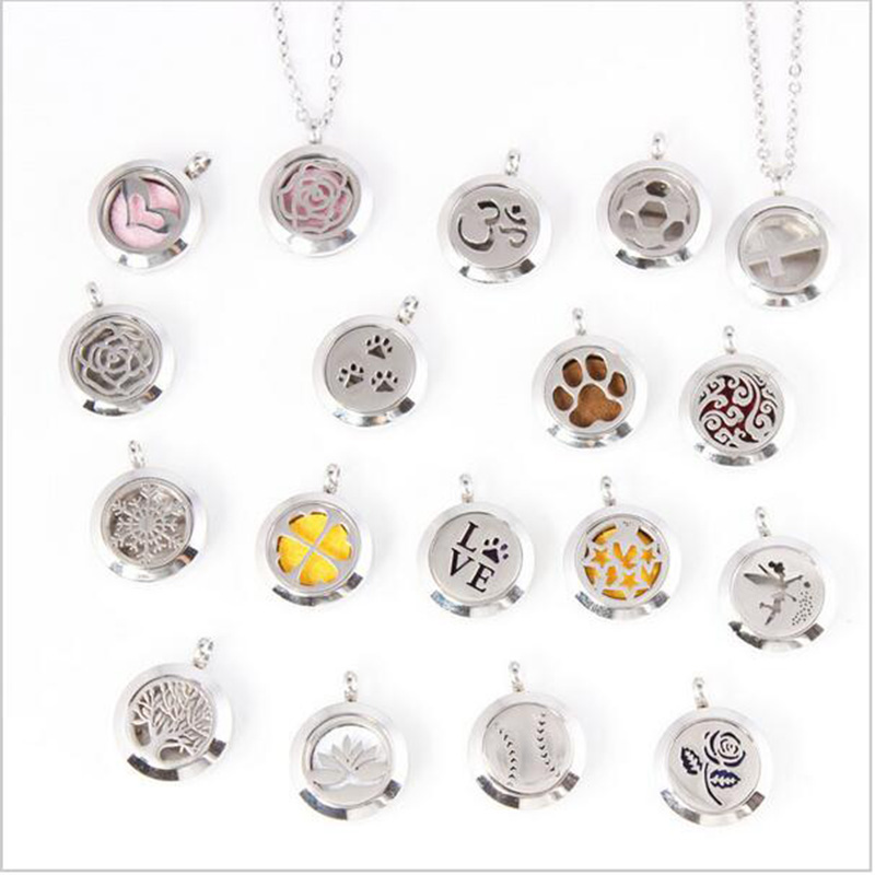 25mm magnetic 316 Stainless steel perfume locket pendant aromatherapy essential oil Diffuser locket pendant in Pendants from Jewelry Accessories