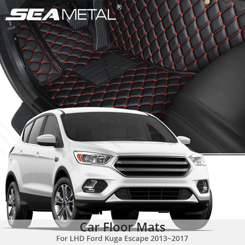 Pour LHD Ford Kuga Ford Escape Lifting 2018 2017 2016 2015 Voiture Tapis De Sol Tapis Personnalisé Tapis Auto Accessoires Intérieurs car Styling