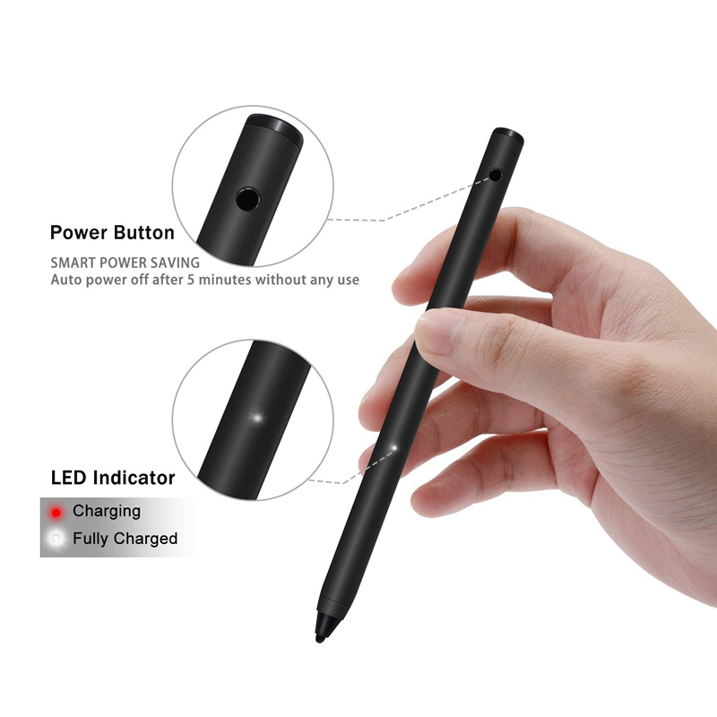 5pcs/lots Bovitar Tablet Pen Capacitive Touch Pen For iPhone iPad iPad Air Drawing High Quality Metal Generic Pen