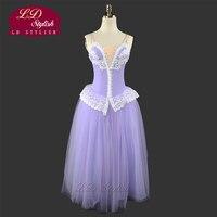 Professional Lilac Fairy Romantic Ballet Tutu Dress LD0002D Soft Tulle Long Ballet Dress Stage Performance Ballet