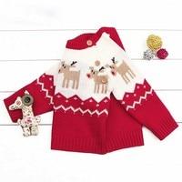 Everweekend Bé Trai Bé Gái Cháu Yêu Quý Giáng Sinh Dệt Kim Sweater Tops Kẹo Red Blue Màu Mùa Thu Mùa Xuân Trẻ Kids Tops