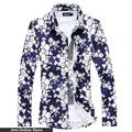 big shirts 2016 men shirt summer shirt floral print shirt men sexy slim fit camisas hombre camisa big yard plus size 6xl 5xl 4xl