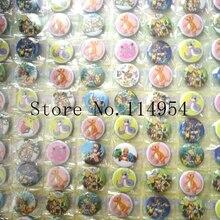 Комплект из 2 предметов(108 шт./компл.) с рисованным аниме, Круглый брошка, пуговица, булавка значок 2,5 см DIY Детский подарок X96