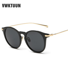 VWKTUUN Sunglasses Women Colorful Shades Vintage Sun Glasses Female Mirror oculos Brand Desgin Trendy Sunglass Woodgrain Frame