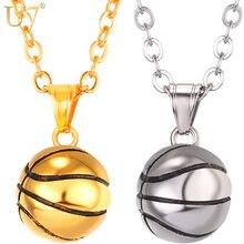 Ожерелье u7 из нержавеющей стали для баскетбола кулон в стиле