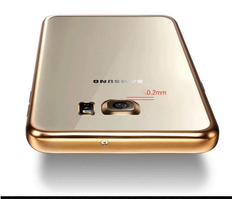 Coque dla samsung galaxy s6 edge s6 s7 s7 edge case wyczyść przezroczysty złocenie miękka tpu back cover dla samsung s6 edge case 11