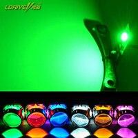 2 unids/lote alto brillo 360 grados SMD demonio LED Halo anillos diablo ojo para todos los faros del proyector del coche, Color blanco, rojo, azul, amarillo