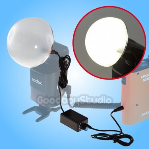 2in1 Dome Shape LED Modeling Light + Diffuser fr Godox AD 180 AD 360 AD200 Speedlite Flash Light