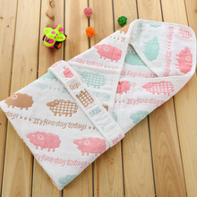 8 Single Layers Natural Organic Cotton New Born Baby  Swaddle Baby Wrap 70x70cm Kids Blanket Sleeping Bag